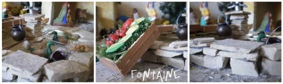 Traditions Provençales-La fontaine du village provençal avec son marché