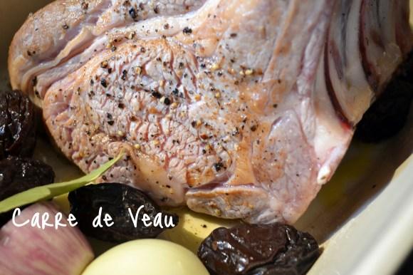 Préparation et cuisson du Carré de veau au four