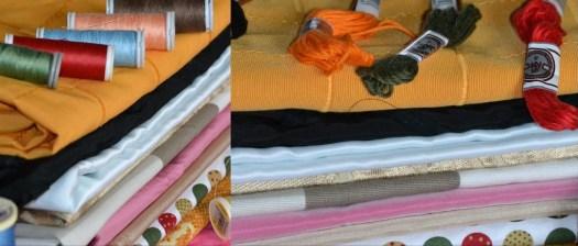 Photo de tissus et bobines de fils - organisation