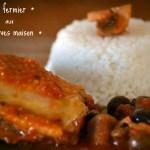 Recette de poulet fermier en sauce tomate aux olives vertes et noires faites maison