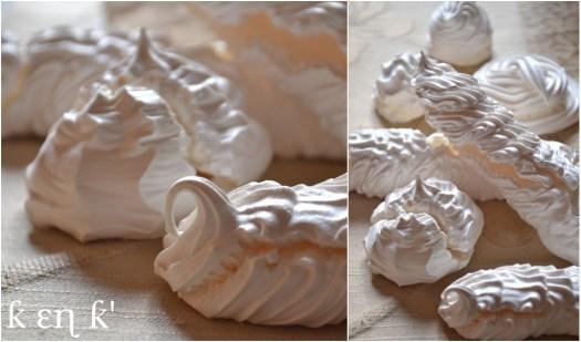 recette-dessert-meringues faites avec une poche à douille