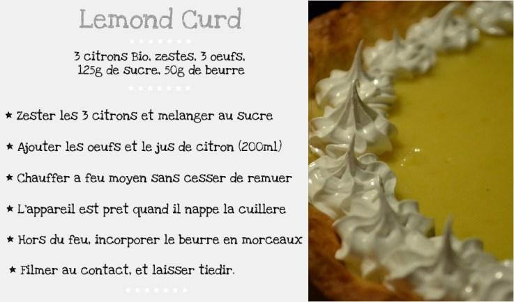 Recette du Lemond Curd pour la tarte au citron meringuée avec meringue à l'italienne