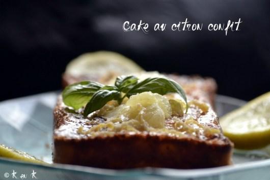 Recette bio du Cake citron confit