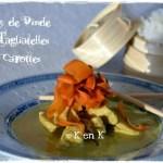Recette du Curry de dinde aux tagliatelles de carottes servi avec de riz basmati