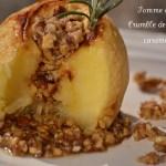Recette de la pomme au four avec un crumble de fruits secs caramélisés