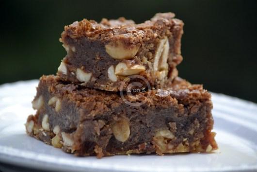 Recette du Brownie Gourmand au chocolat et cacahuètes