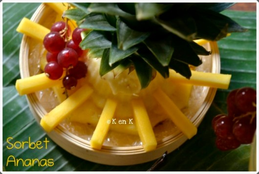Recette sorbet ananas pour mon 1er bento ©Kaderick en Kuizinn