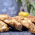 recette de cookie avec des mirabelles, des amandes fraîches et des pépites de chocolat