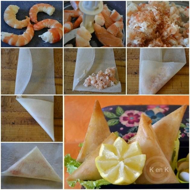 bento samoussas poisson-recette-cuisine-crevette