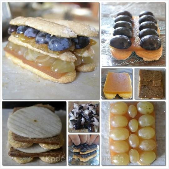 Cuisine Bio, la recette de la charlotte avec des raisins et de la pâte de coing