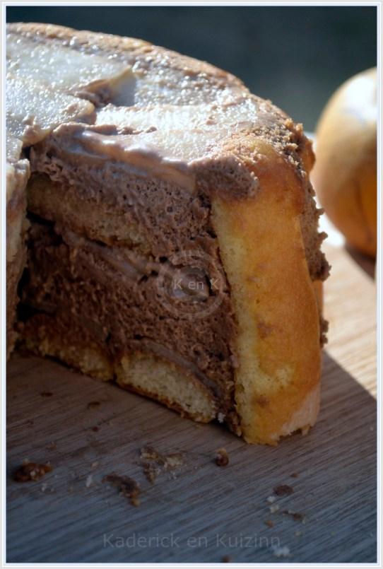 recette de dessert-Charlotte chocolat aux nashis pour Culino Versions