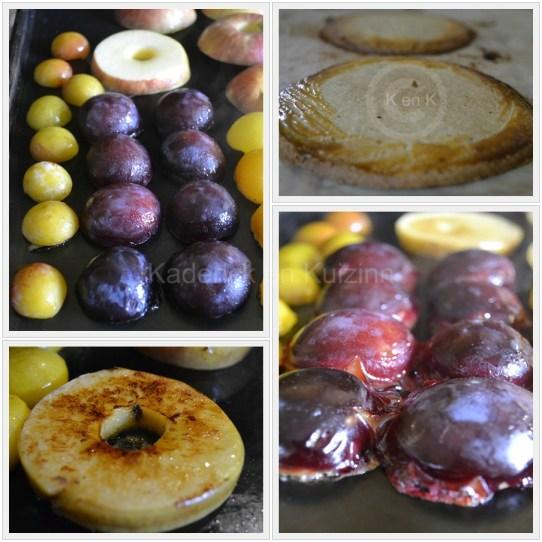 Tartelette façon sablé aux Prunes et Pommes sur le blog de cuisine avec des produits frais et bio de ©Kaderick en Kuizinn