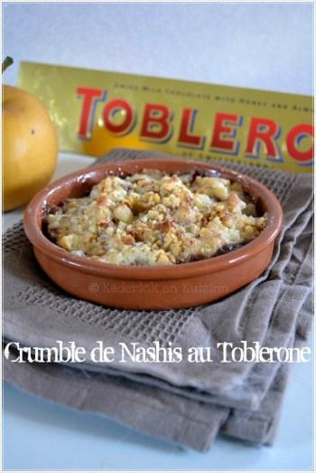 Dessert-crumble de nashis au toblerone