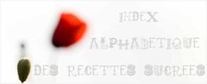 Logo de l'Index Alphabétique des recettes sucrées sur le blog de cuisine bio de ©Kaderick en Kuizinn