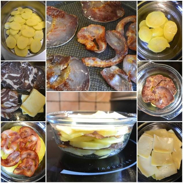 Cuisine Bio, gratin de pomme de terre avec du fromage à raclette