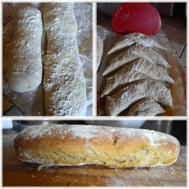 Cuisine bio, pain fait maison, baguettes epis faites avec de la farine bio