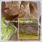 Recette du pain forme sapin et du foie gras fait maison pour Noël