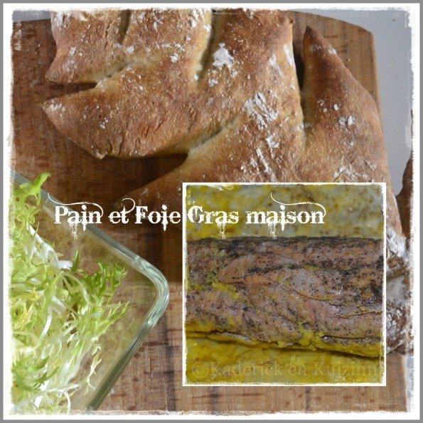 Recette du pain forme sapin et du foie gras vapeur fait maison pour Noël