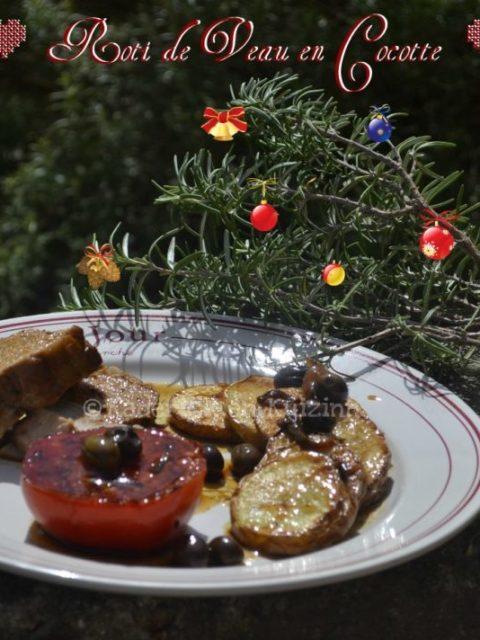 Recette Noel - Rôti de veau cuit en cocotte