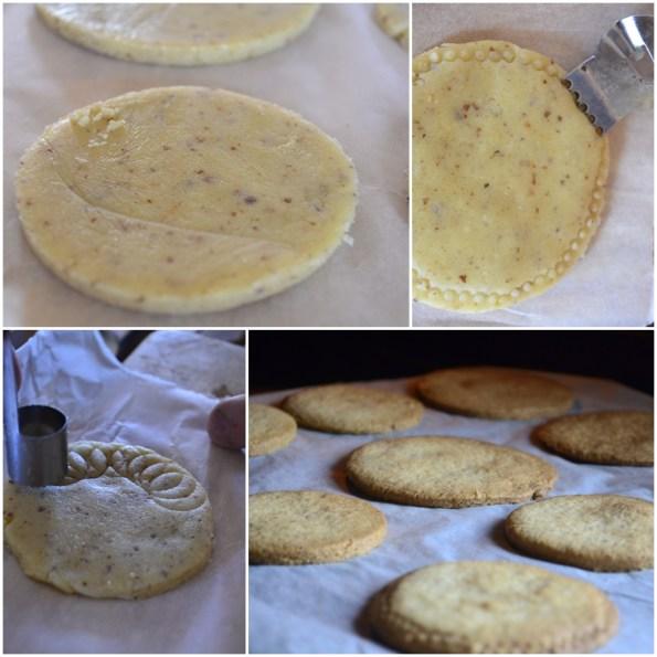 Préparation des sables fruits secs, amandes, noix, pistaches pour culinoversion