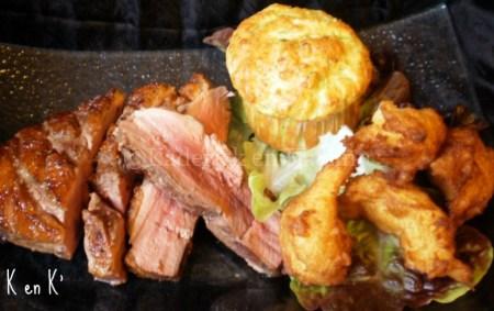 Magret de canard et pomme dauphine avec des muffins courgettes - vos recettes préférées