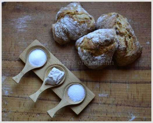 Recette et Préparation des petits pains sans pétrissage avec une farine bio
