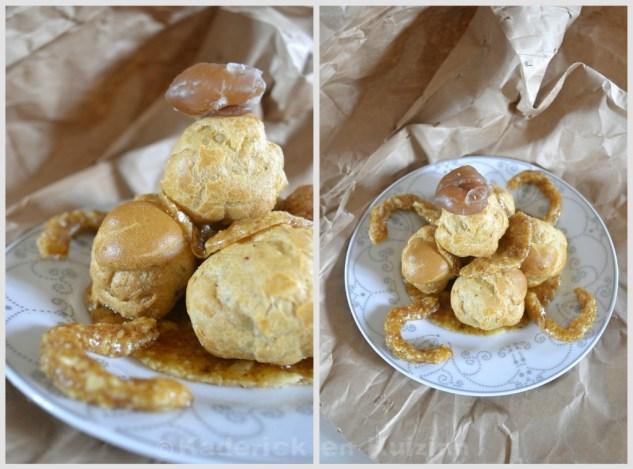 Recette de choux à la crème de marron et nougatine pour Culino Versions