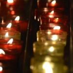 """Bougie dans la Basilique de la Bonne Mère à Marseille pour le thème """"lumière"""" du projet 52"""