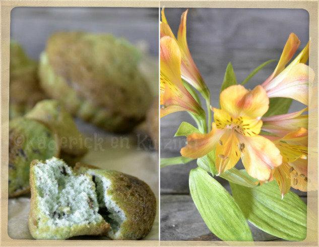 Recette des madeleines aux pistaches et petites de chocolat, un gâteau d'enfance pour le goûter