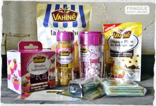 Partenariat dessert - Produits vahiné offert pour faire de la pâtisserie