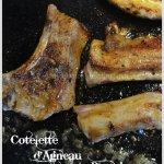 Cuisson cotelette d'agneau épicée à la plancha mariné avec du paprika doux