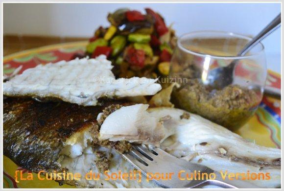 Dorade avec de la tapenade maison pour la cuisine du soleil de Culino Versions