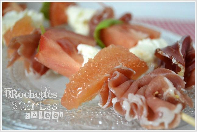Recette des brochettes de jambon tomate et mozzarella pour une version classique d'une entrée