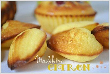 Recette des madeleines au citron bio pour un goûter d'enfance