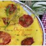 Recette de l'omelette tomate cerise avec du thym frais et de la sarriette