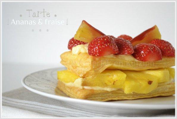 Recette de tarte fruits à l'ananas et aux fraises bio pour un dessert léger et estival