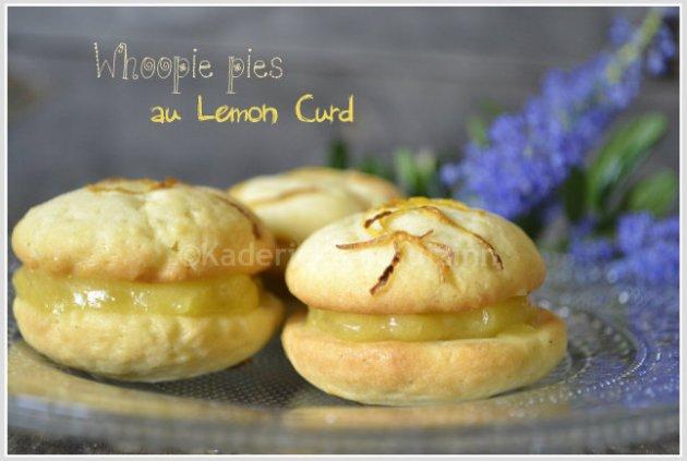 Recette de whoopie pies au lemon curd pour un dessert ou un goûter sur ©Kaderick en Kuizinn