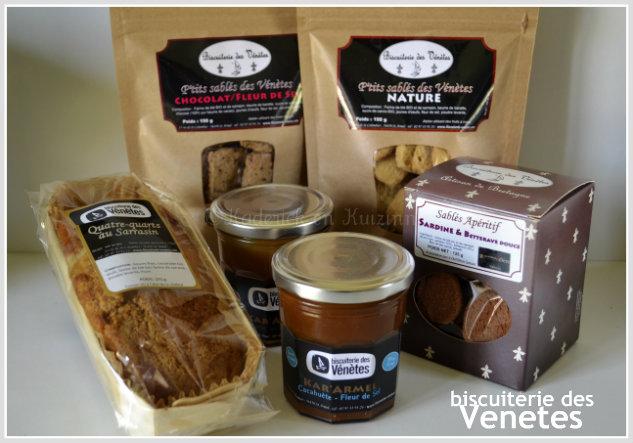 Partenariat biscuit - Produits de la biscuiterie Vénètes que j'ai reçu dans mon colis