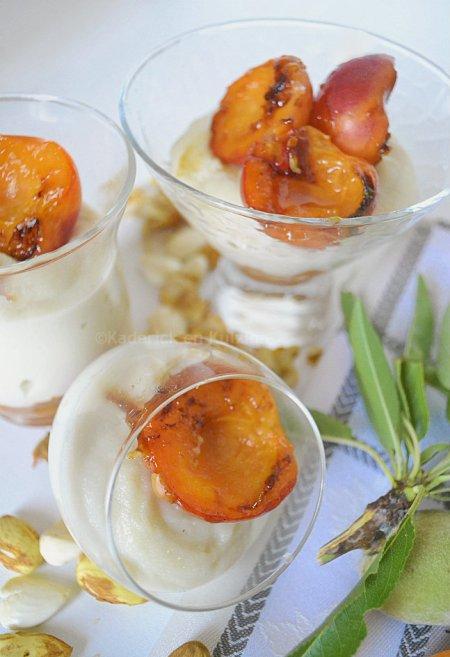 Dégustation abricots rôtis & lait d'amande pour un dessert tiré du livre {Plancha} des éditions Solar
