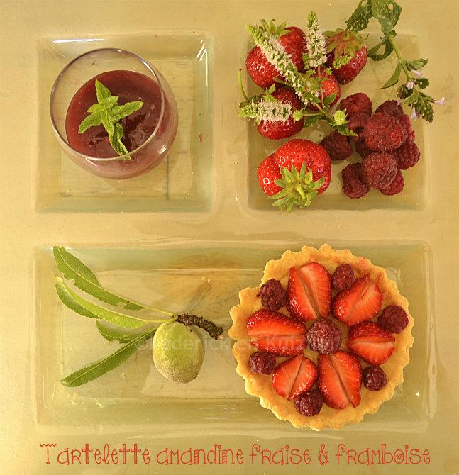 Dégustation tartelette amandine fraise framboise bio pour le thème tartelette aux fruits d'été pour Culino Versions