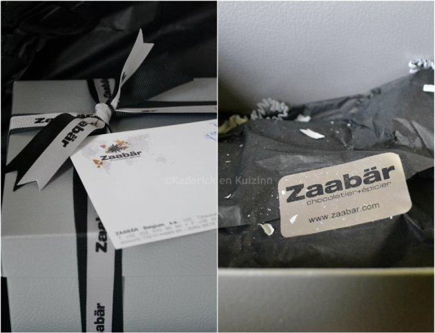 Partenariat chocolat - produits Zaabar partenariat chocolatier Belge envoyé dans une belle boite grise et noire