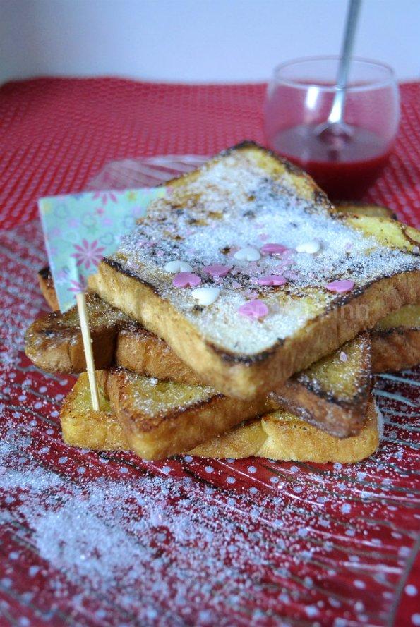 Recette pain perdu à la fleur d'oranger pour warburtons la marque Anglaise qui arrive en France dans les Monoprix