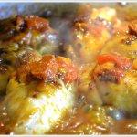 Recette poulet aux tomates confites à la plancha avec du chorizo et du riz safrané