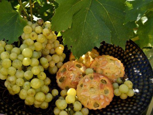 Clafoutis raisins blancs en portion individuelle pour le thème du mois d'Aout Culino Versions