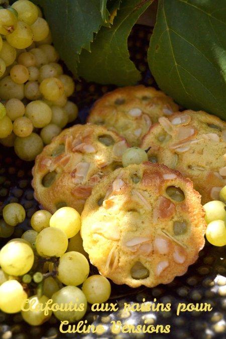 Dossier clafoutis aux raisins blancs du jardin en portion individuelle pour le thème du mois d'Aout pour Culino Versions