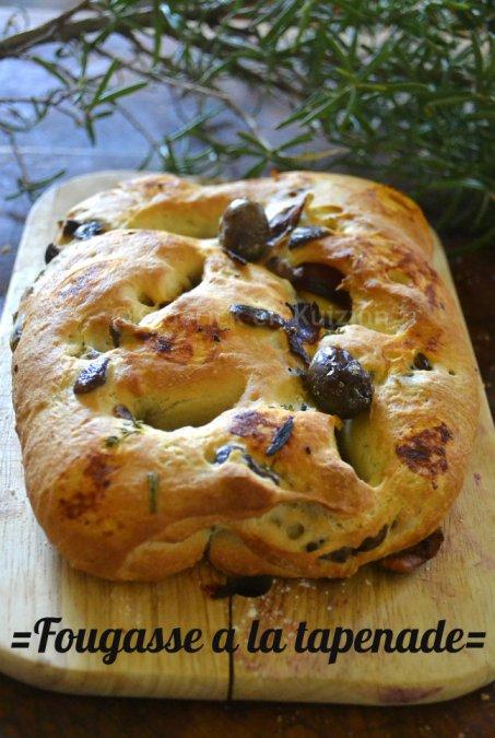Cuisine saine et durable : Top du mois d'Aout fougasse à la tapenade d'olives noires et herbes de Provence pour un pain du dimanche