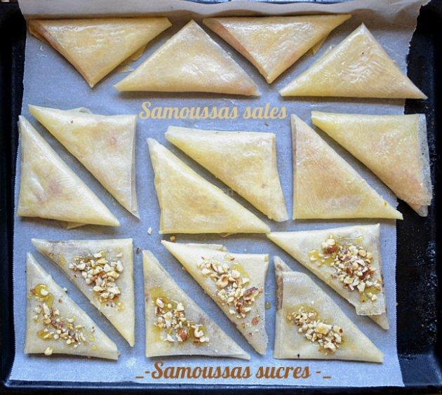 Préparation des Samoussas en recette salée et en sucrée pour une cuisine orientale