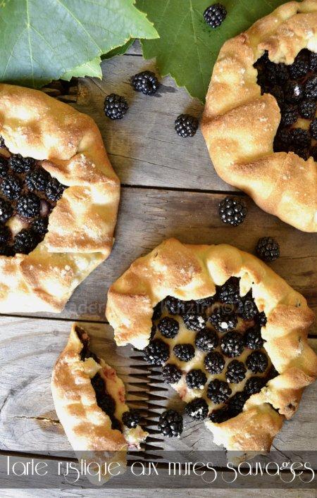 Dégustation recette facile tarte rustique aux mûres sauvages avec une pâte brisée sucrée maison pour un dessert simplement gourmand - Kaderick en Kuizinn©