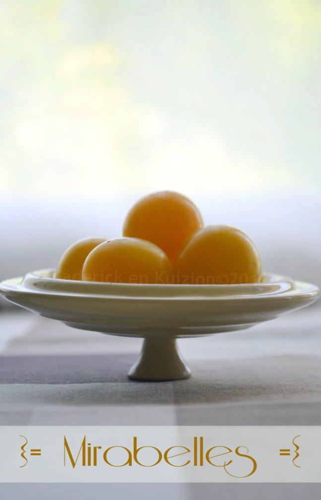 Dessert à base de mirabelles bio - Kaderick en Kuizinn©
