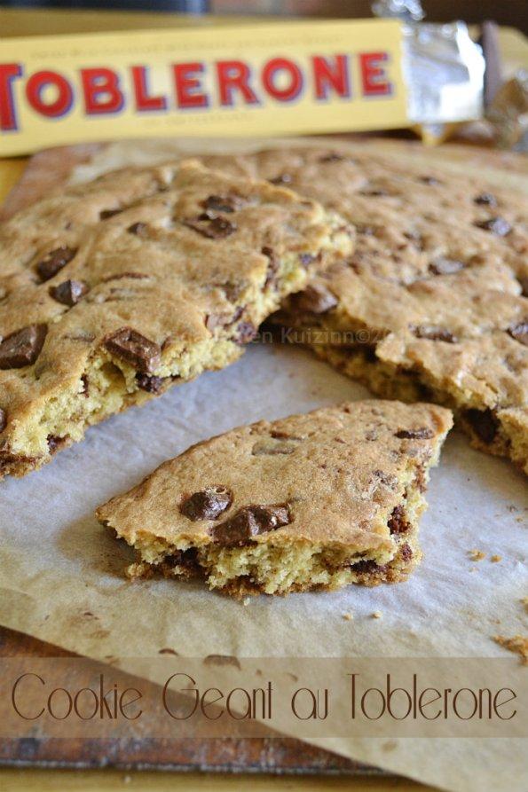 Dégustation du défi goûter avec la recette facile du cookie géant au toblerone® pour un dessert ou un goûter trop gourmand - Kaderick en Kuizinn©